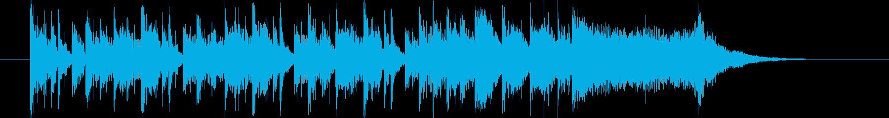 軽やかで爽やかなシンセサイザーサウンドの再生済みの波形