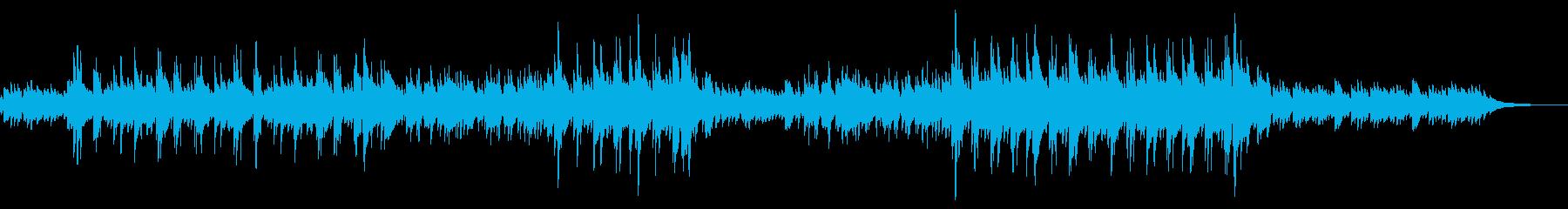 ゆったりとした優しいピアノソロ曲の再生済みの波形
