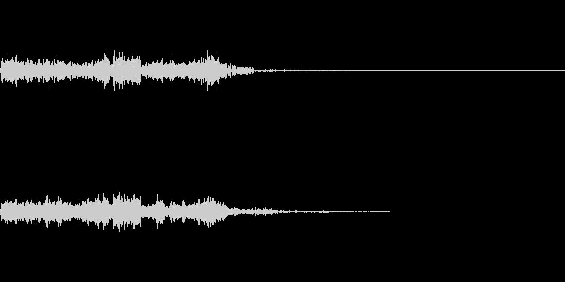 ビリビリと流れる電気の未再生の波形
