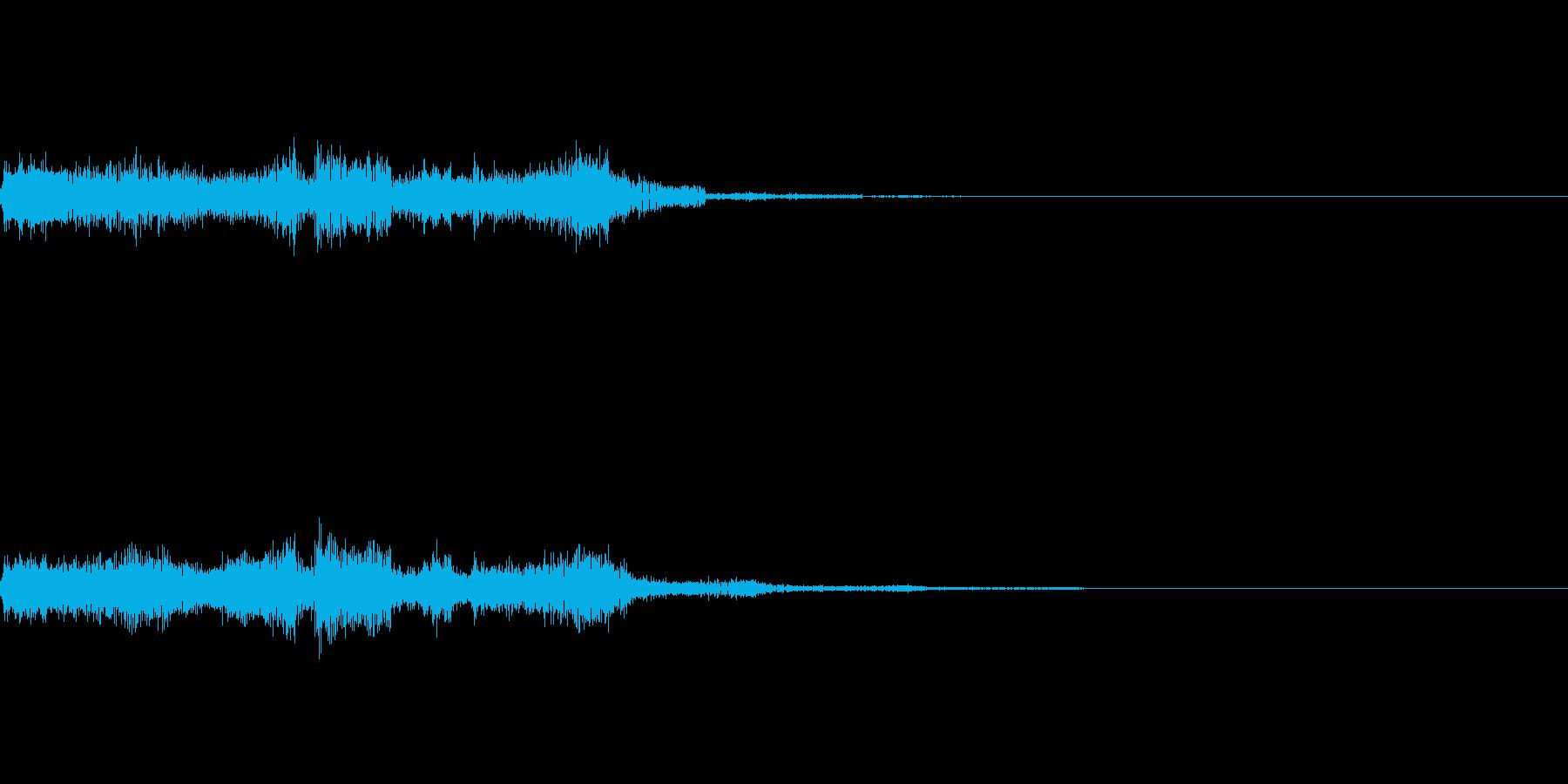 ビリビリと流れる電気の再生済みの波形
