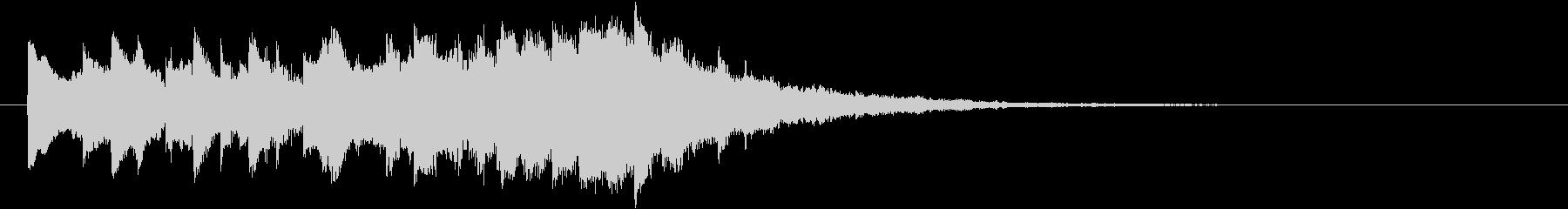 クール&未来的なオープニングロゴの未再生の波形