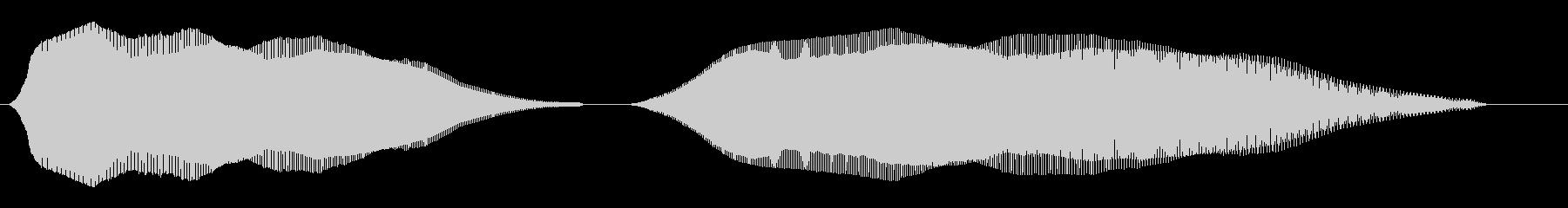 ふわふわ(2段階・ダウンで終わる効果音)の未再生の波形