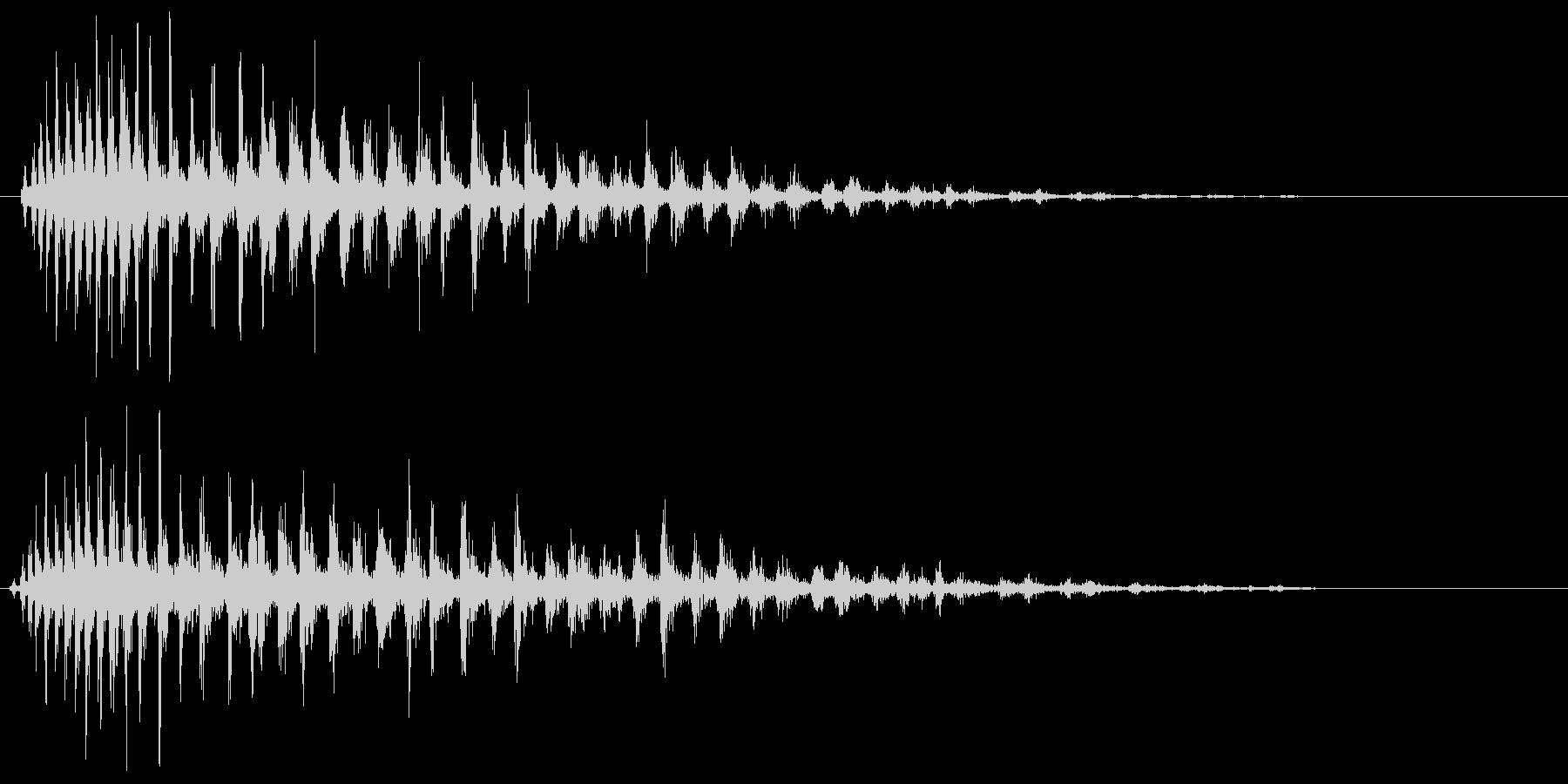 ジュワァァァァ〜という効果音の未再生の波形