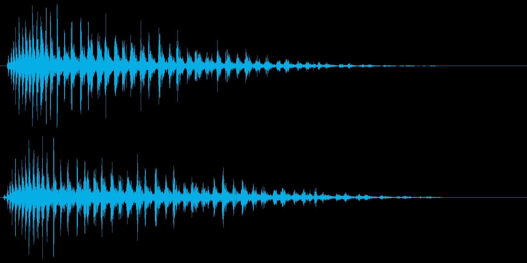 ジュワァァァァ〜という効果音の再生済みの波形