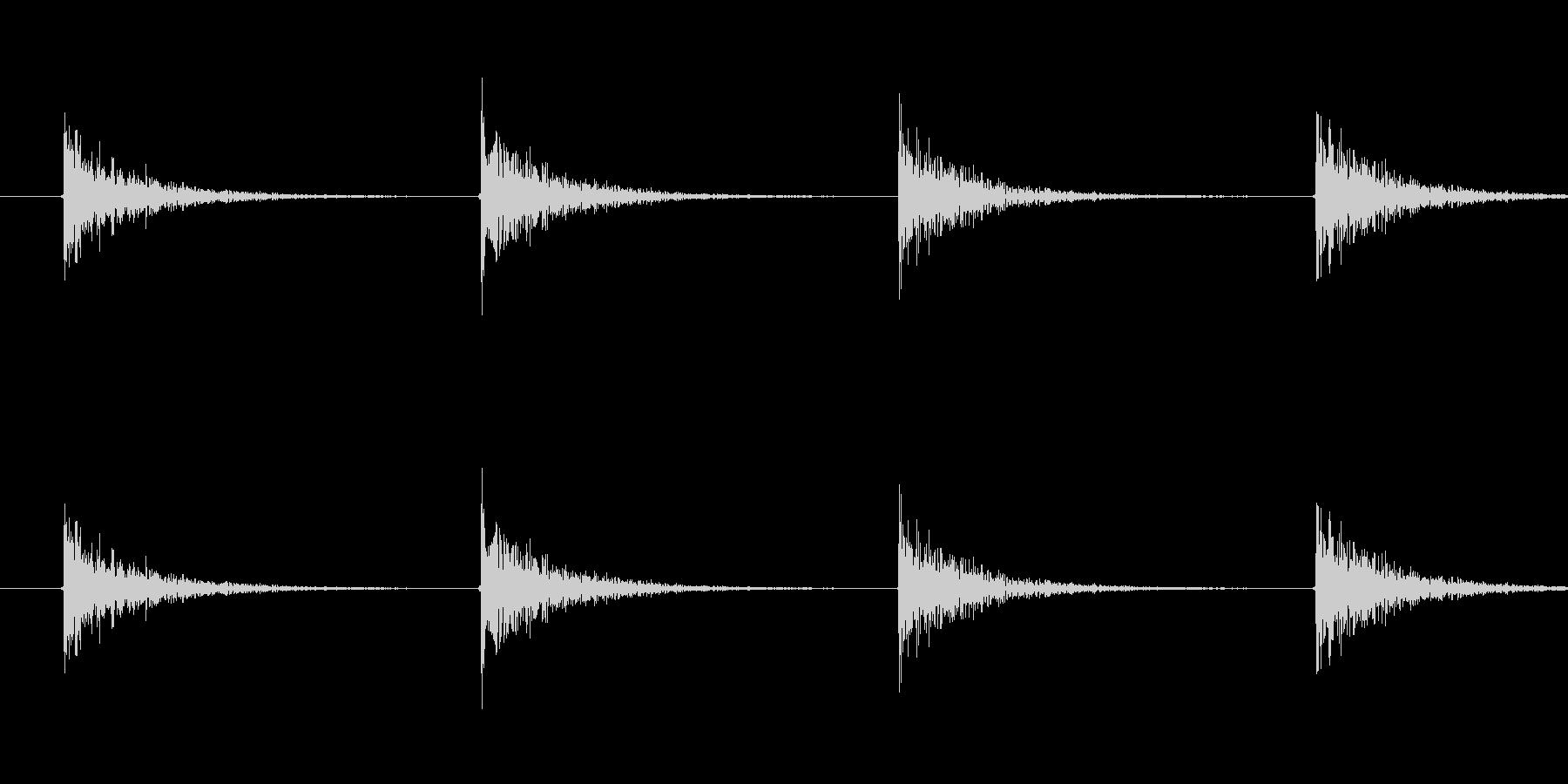 コンコンの未再生の波形