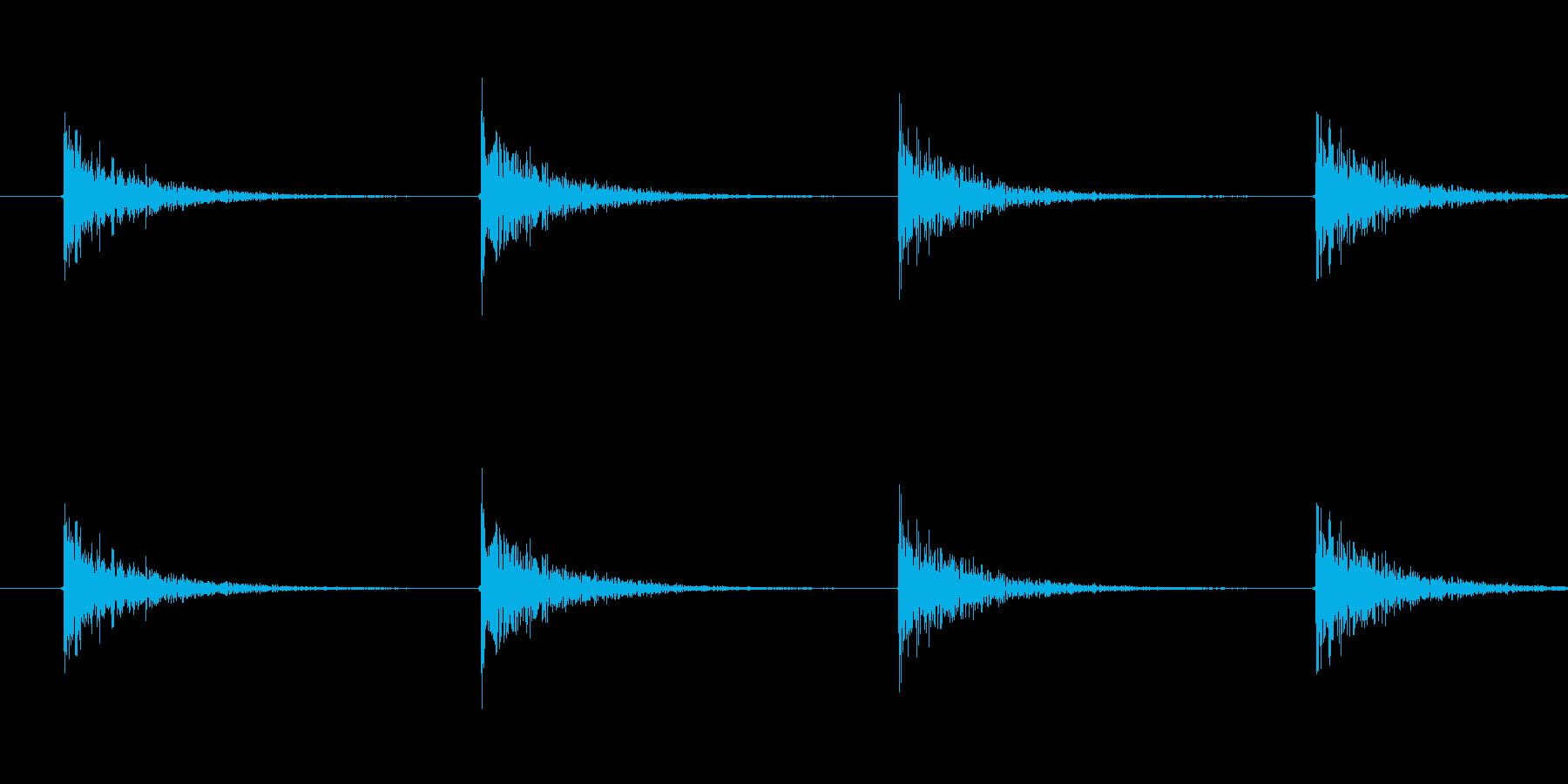 コンコンの再生済みの波形
