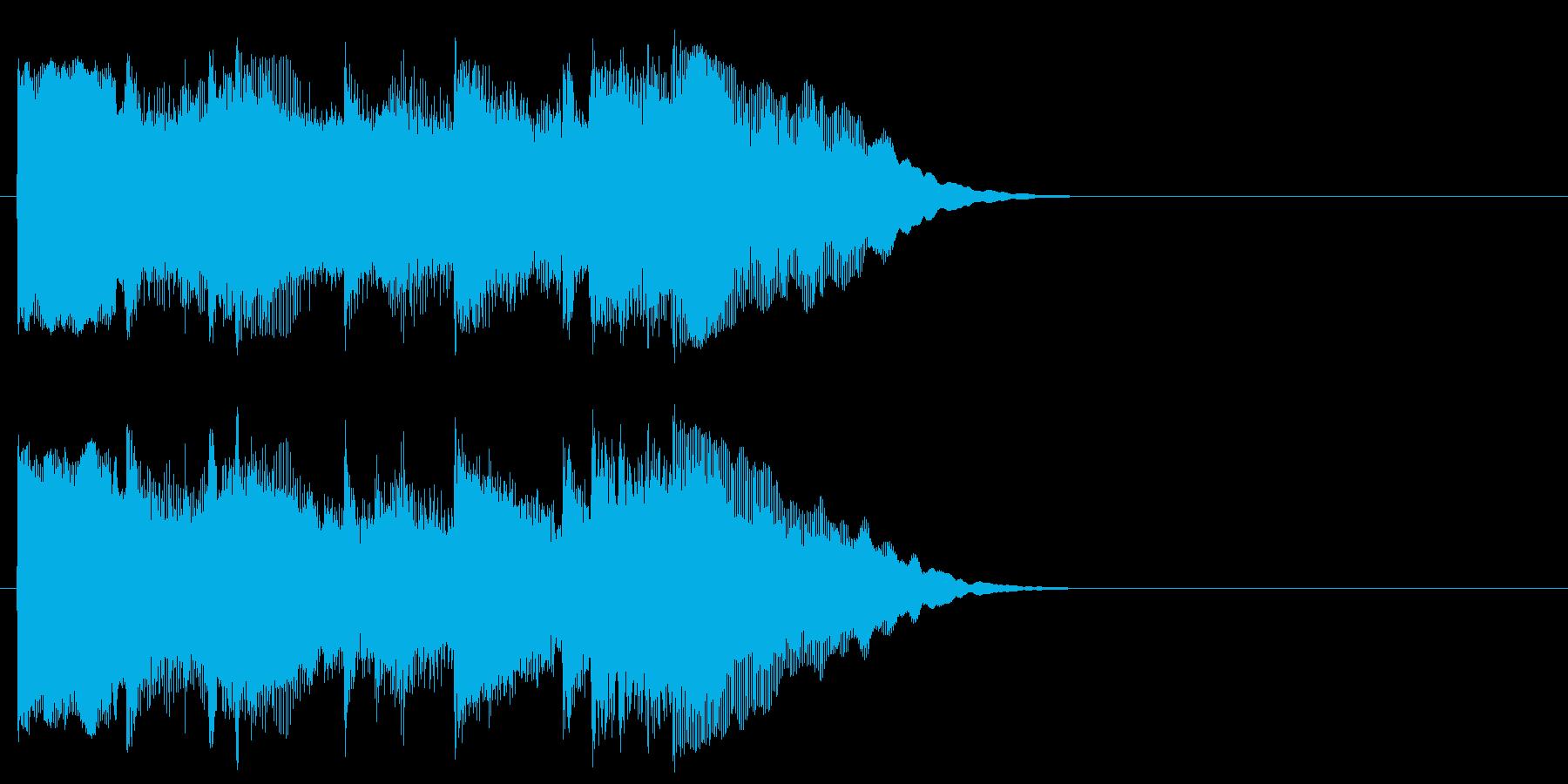 ポップ系ジングルの再生済みの波形