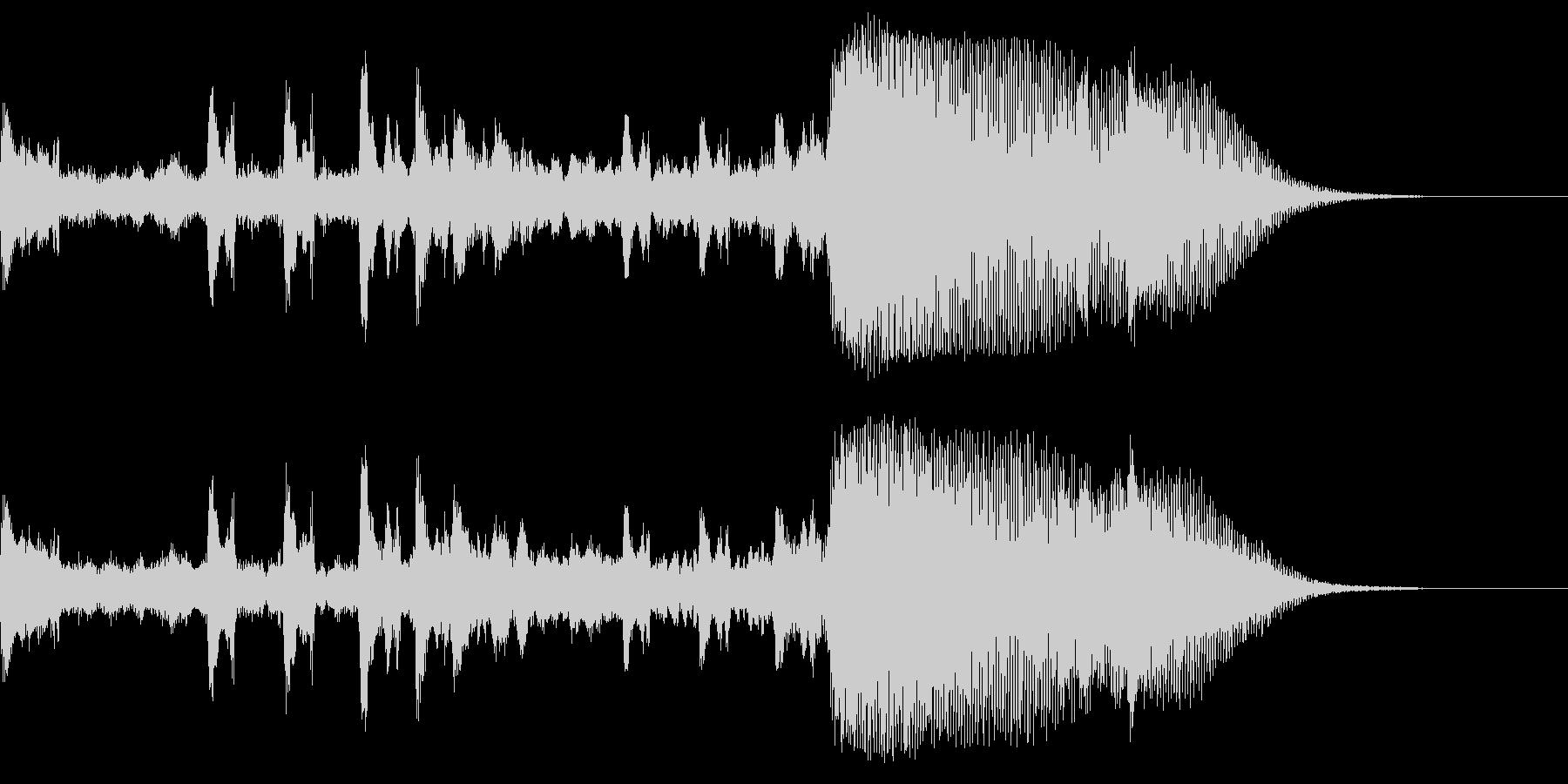 リズミカル〜重層に変化するサウンドロゴの未再生の波形