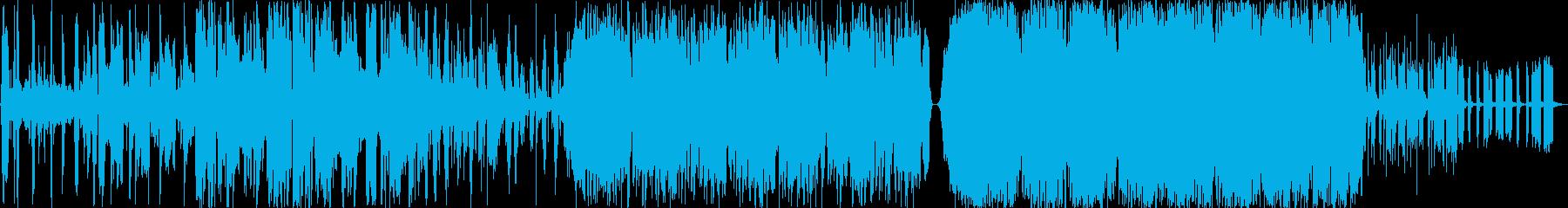 コミカルなfatboy slim的テクノの再生済みの波形