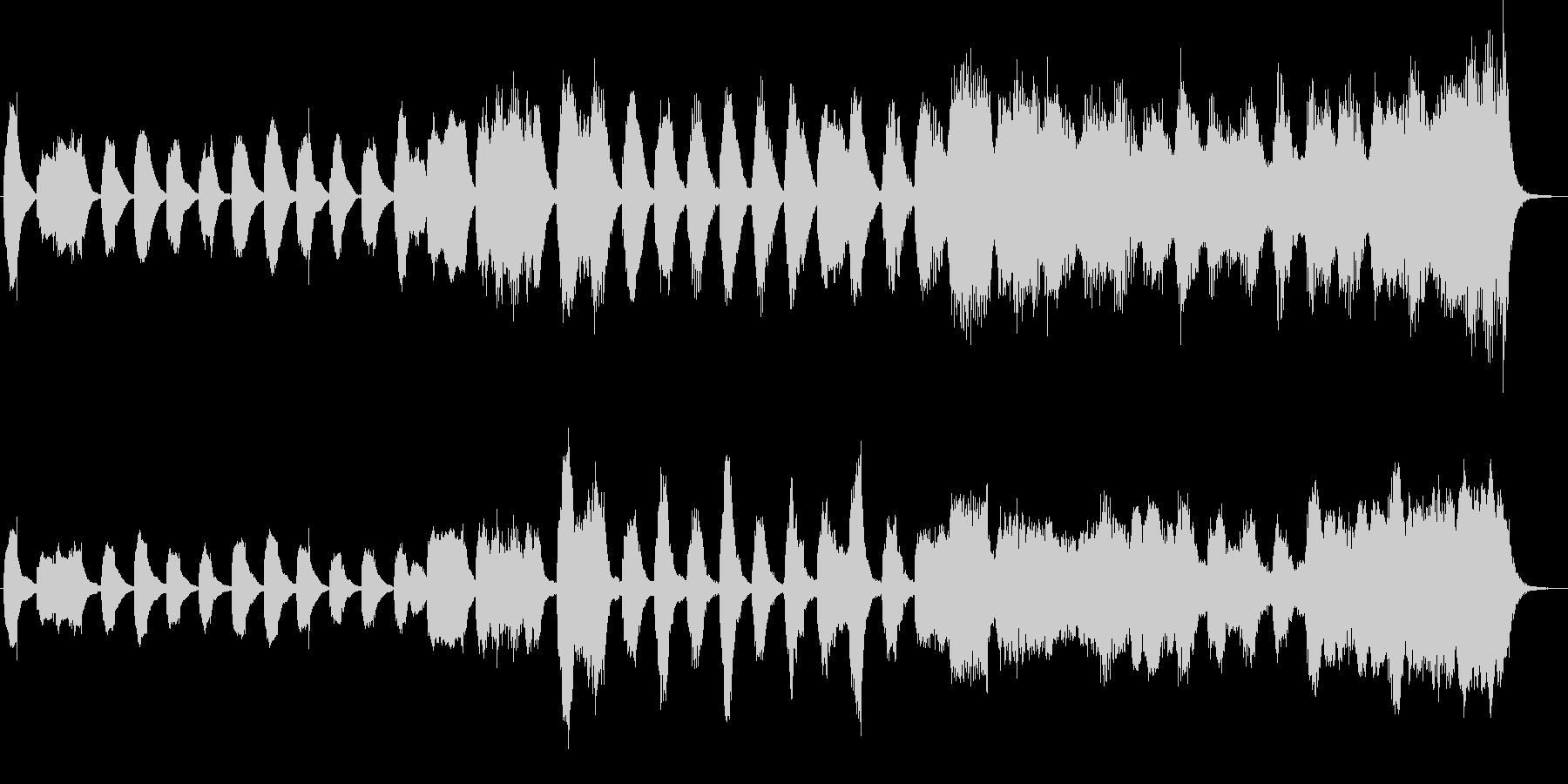 クラシックのバッハ風のジングルの未再生の波形