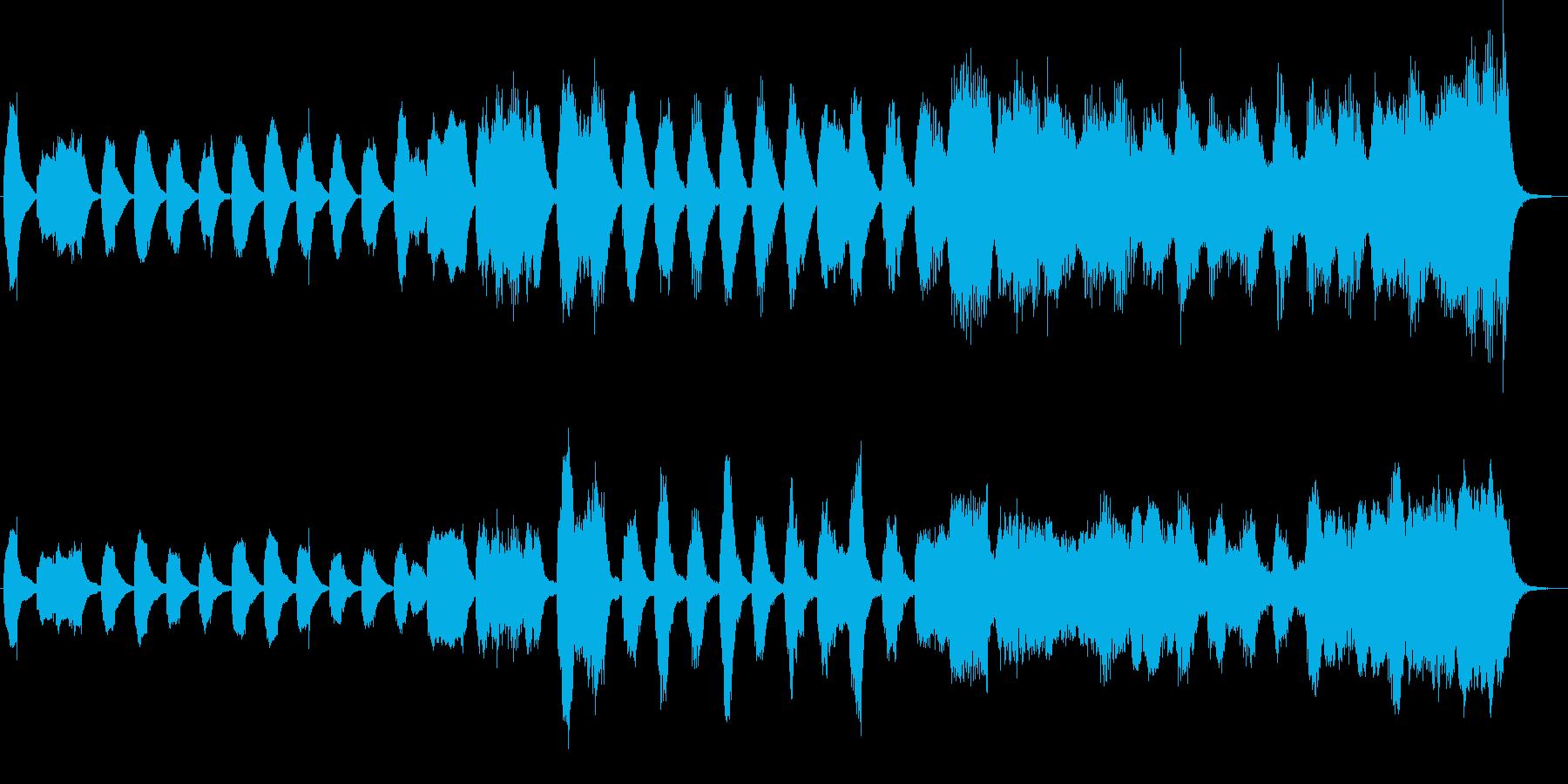 クラシックのバッハ風のジングルの再生済みの波形