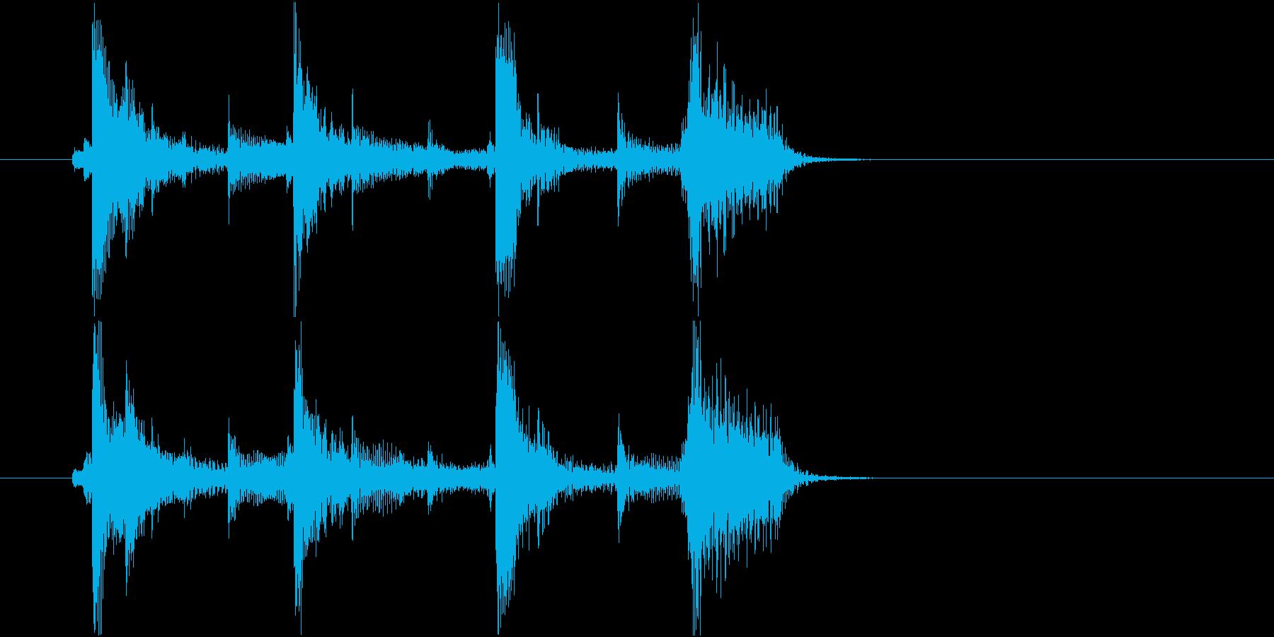 生音 三味線 ショートフレーズ2の再生済みの波形