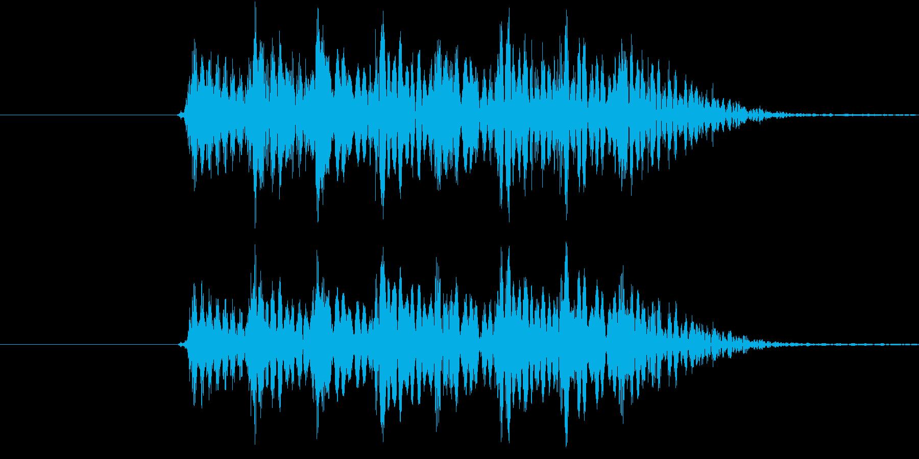 不安感が残る場面区切りに使えるジングルの再生済みの波形