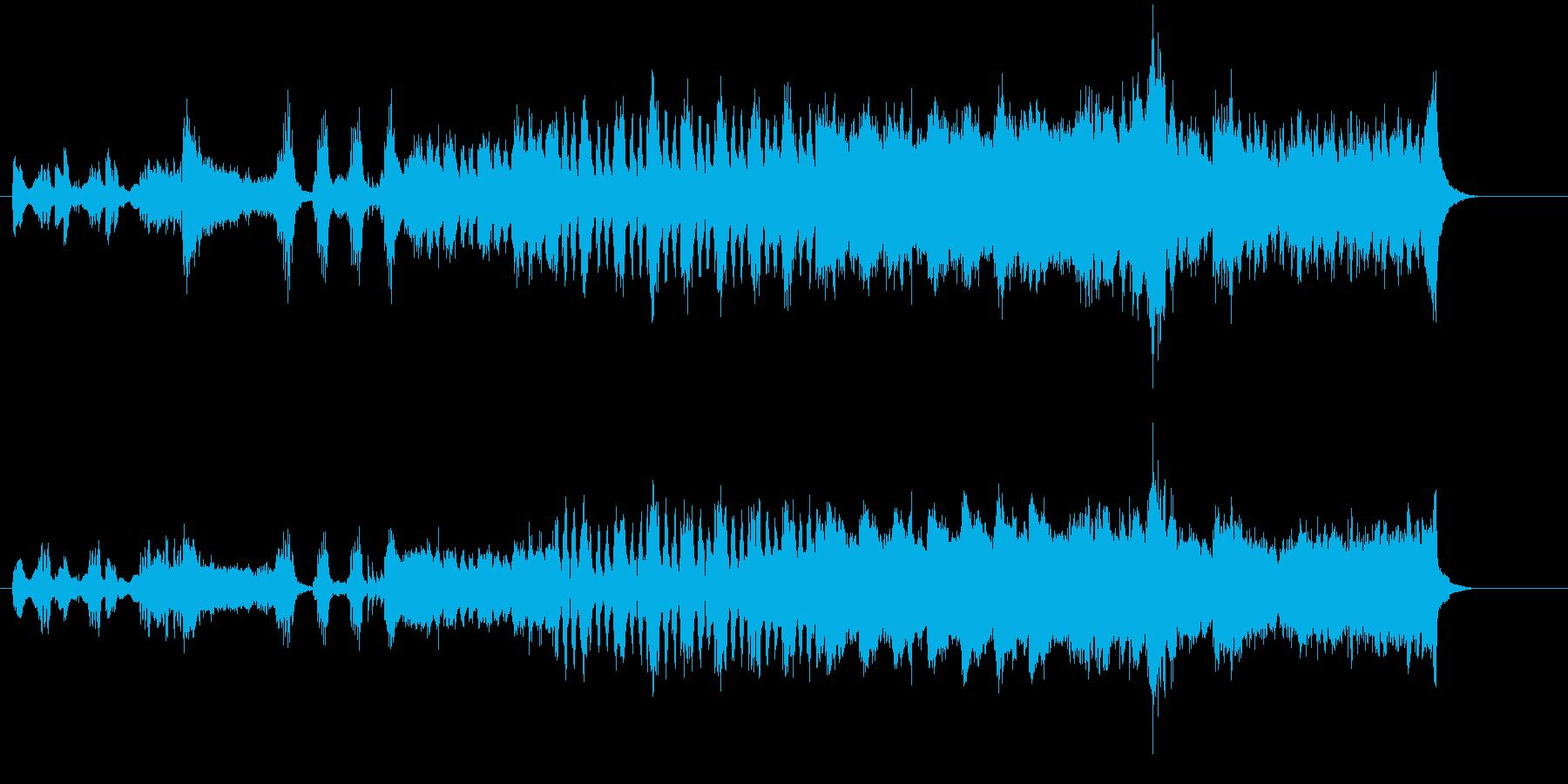スクリーン・サウンド風の曲の再生済みの波形