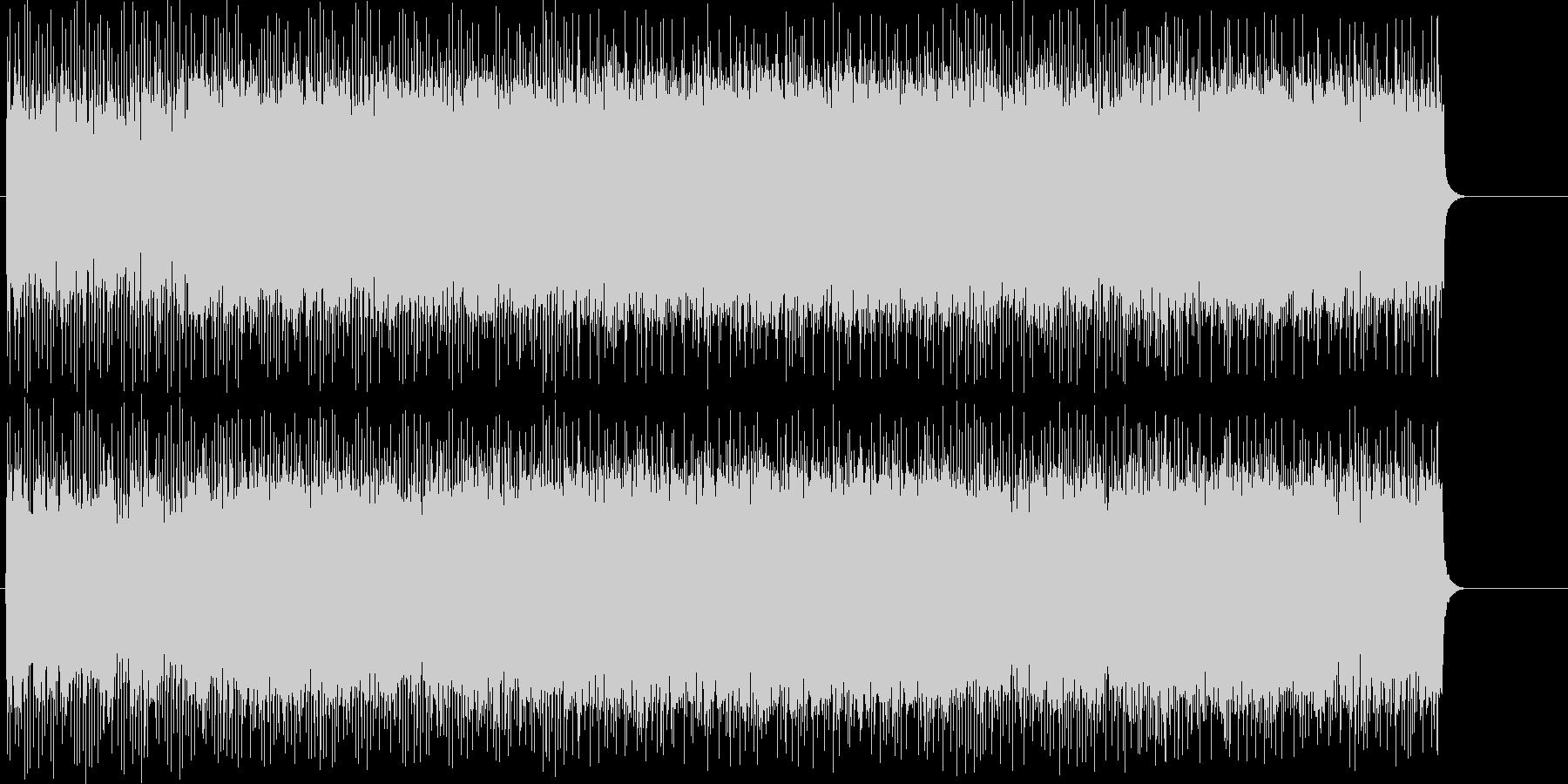 スリルとスピード感溢れるヘヴィ・メタルの未再生の波形