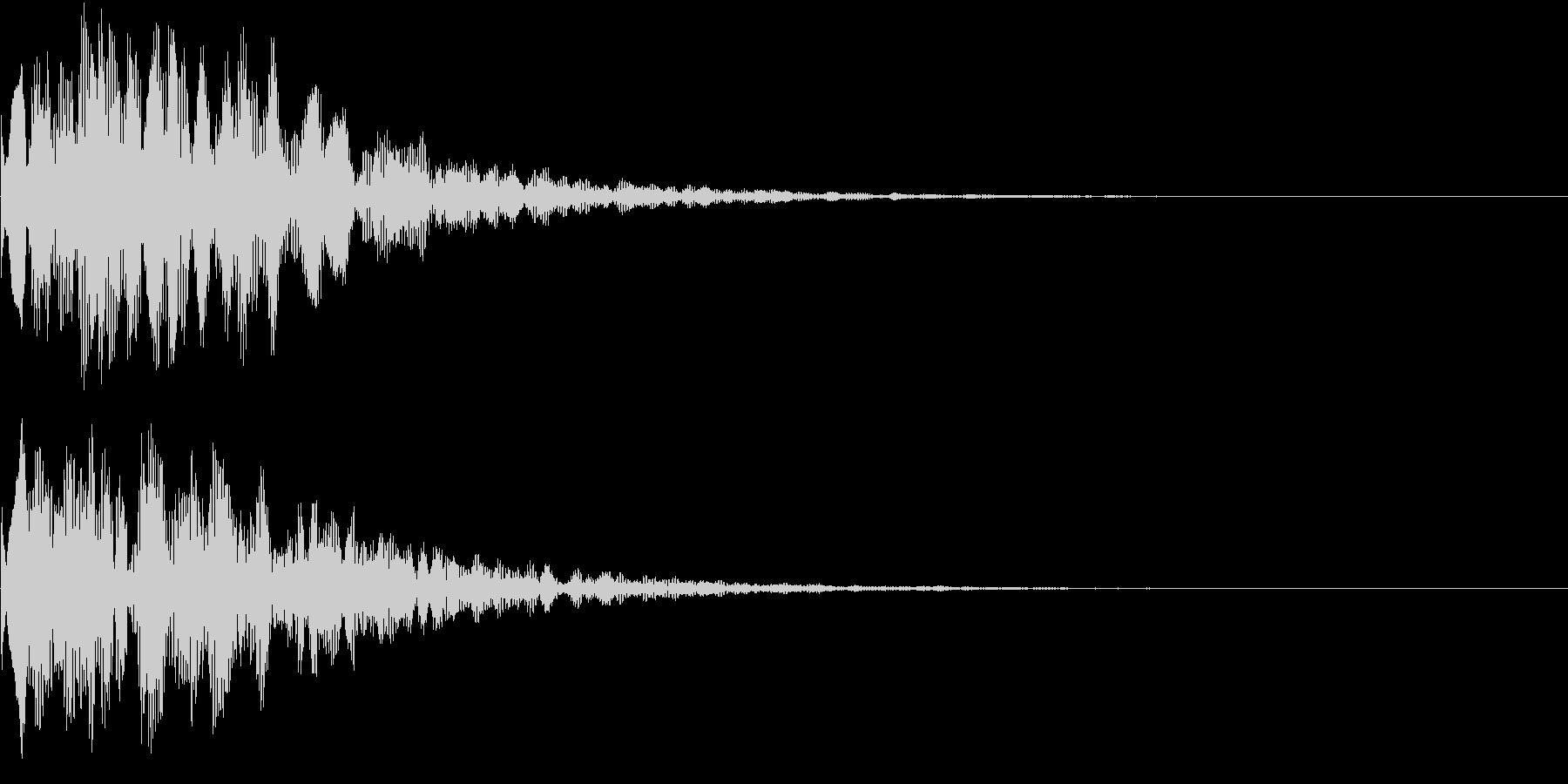 決定音(ピコーン)の未再生の波形