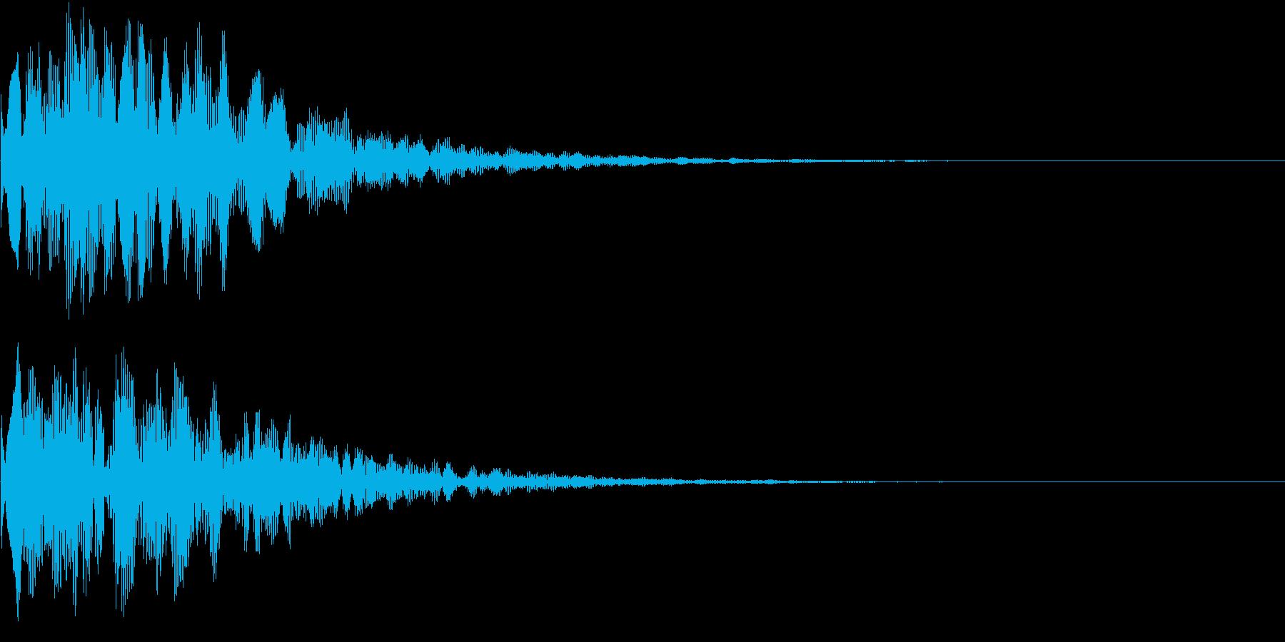 決定音(ピコーン)の再生済みの波形