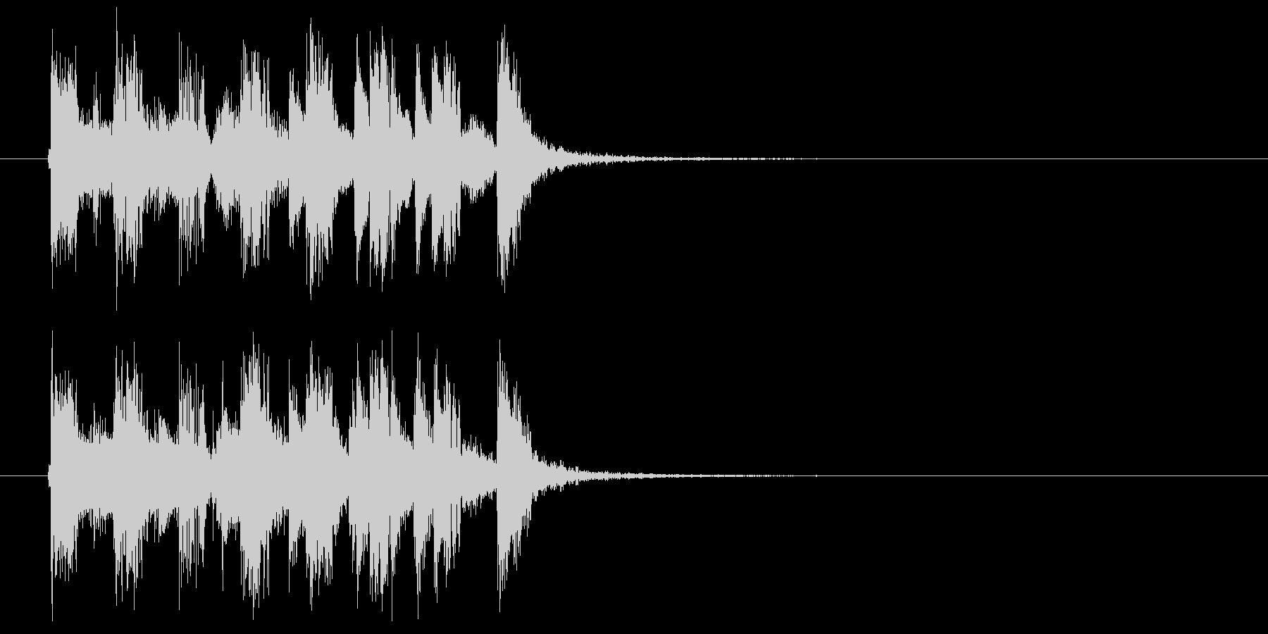 楽しいアコギのジングルの未再生の波形