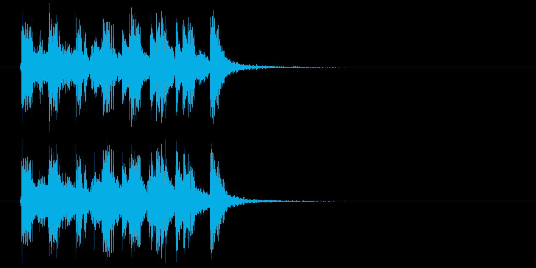 楽しいアコギのジングルの再生済みの波形