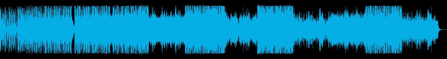 ビート感の強い破滅的で暴力的な電子音楽の再生済みの波形