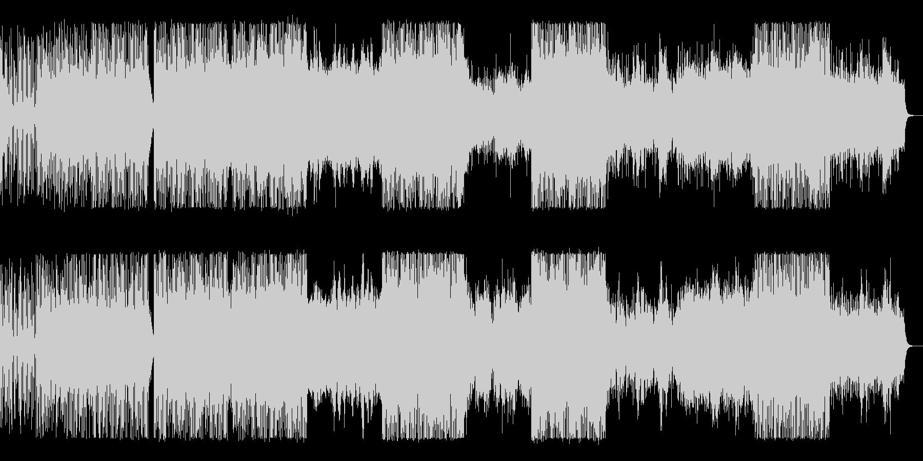 ビート感の強い破滅的で暴力的な電子音楽の未再生の波形
