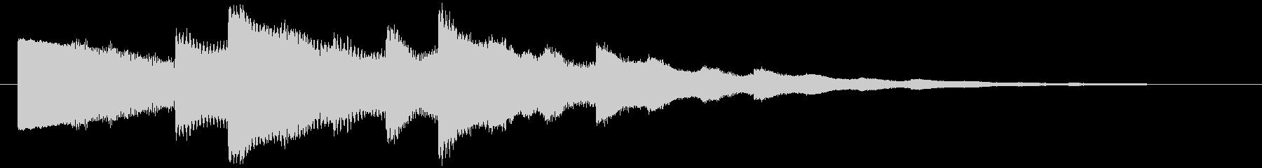 ベルの静かな場面転回音3の未再生の波形