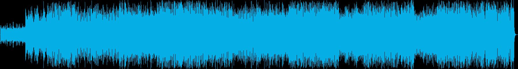 アップテンポのクリスマスポップスの再生済みの波形