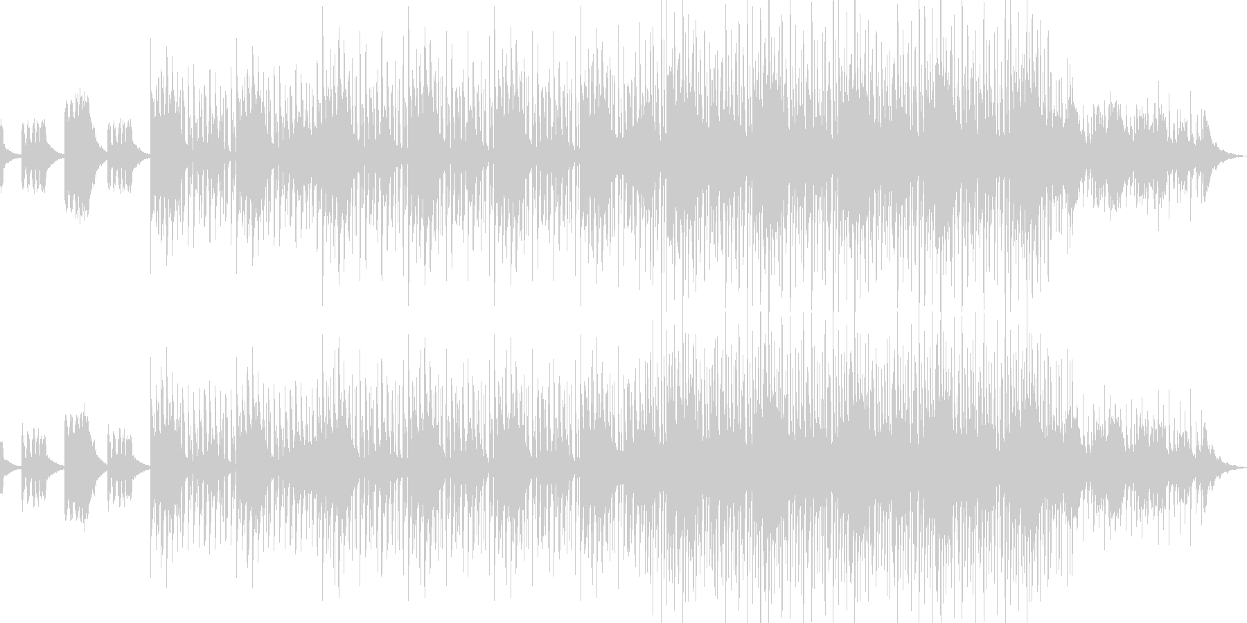 オシャレなクラブサウンドの未再生の波形