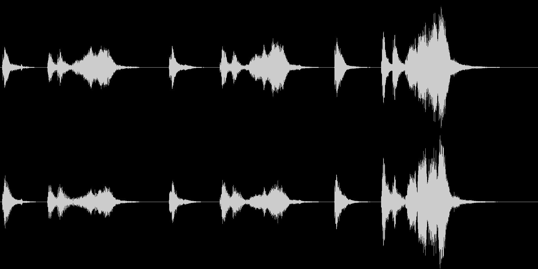 トムとジェリー風なアニメ音楽「忍び足」6の未再生の波形