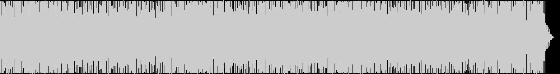 お洒落でパワフルなピアノのBGMの未再生の波形