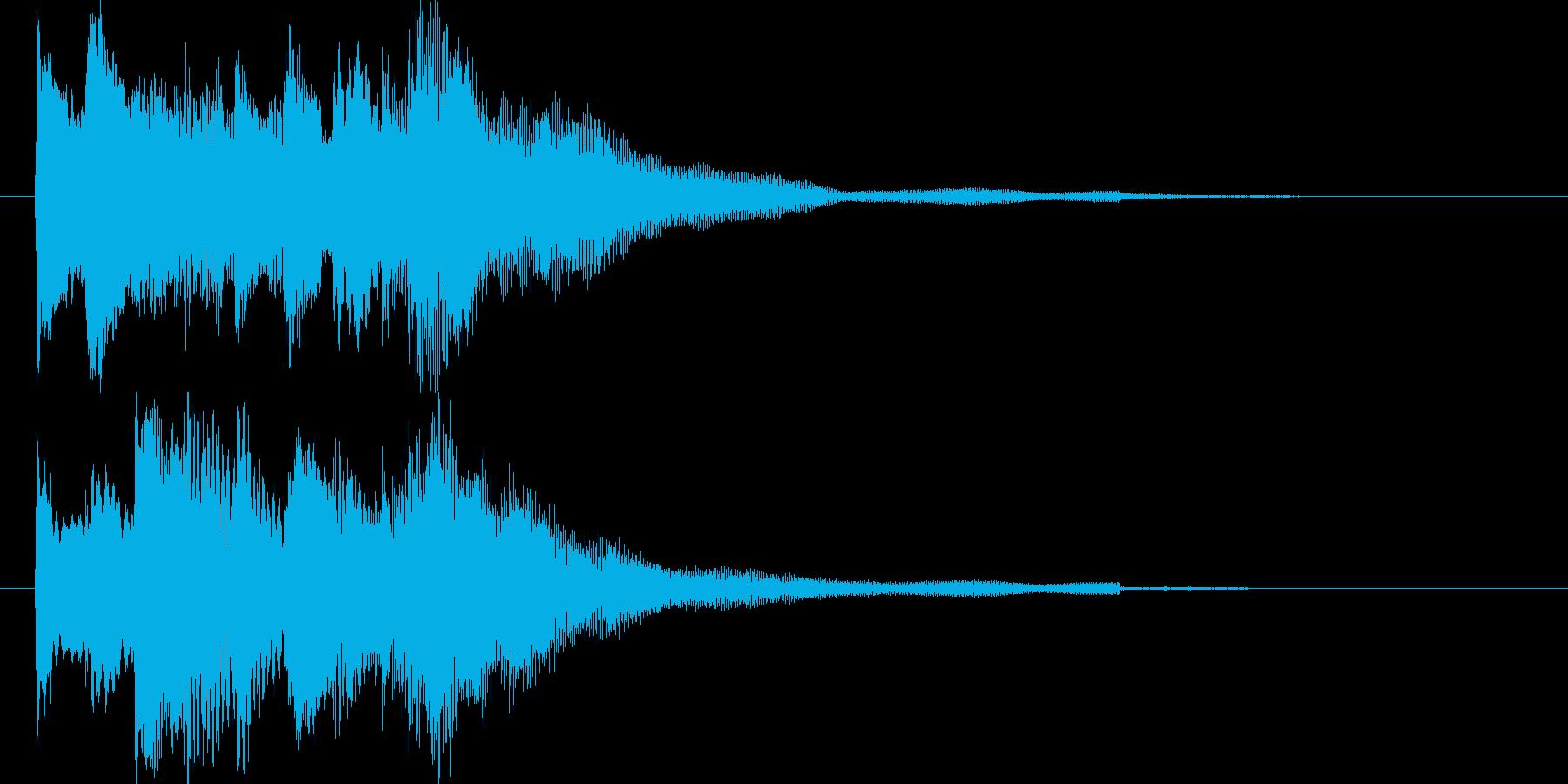 ハープによる優しい音色のジングルの再生済みの波形