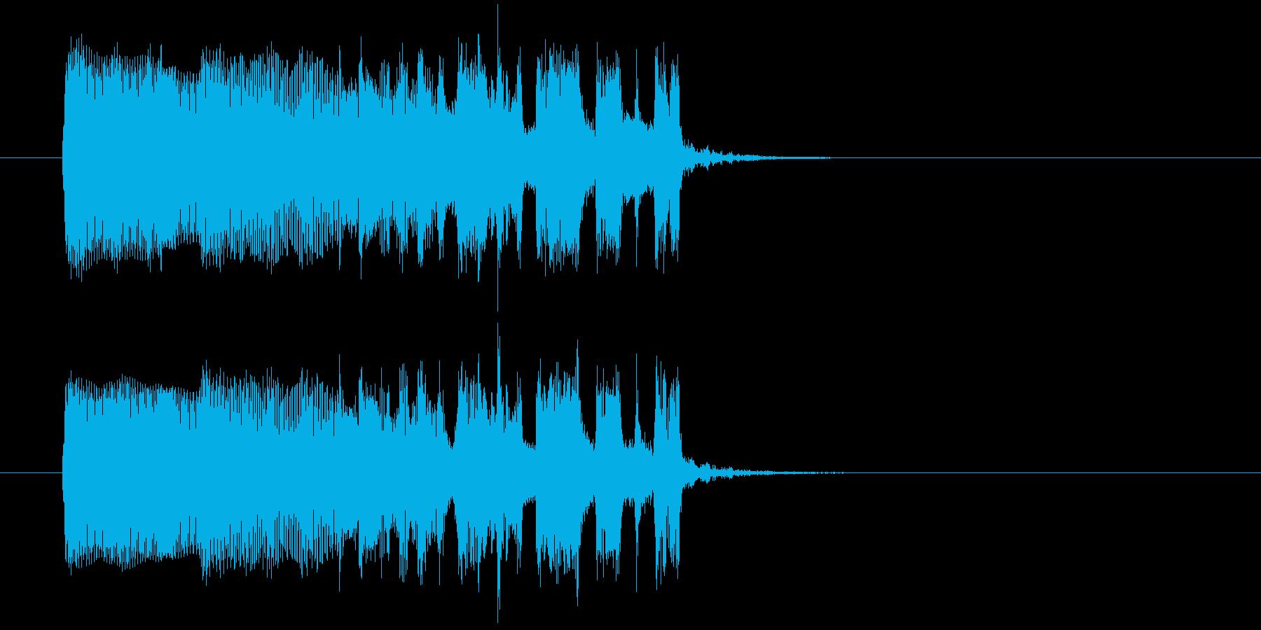 軽快でリズミカルなテクノポップジングルの再生済みの波形