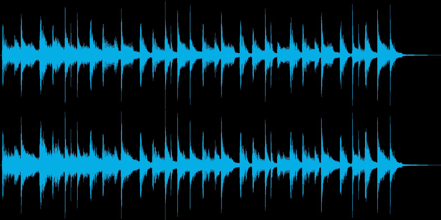 ヒップホップ風のジングルの再生済みの波形