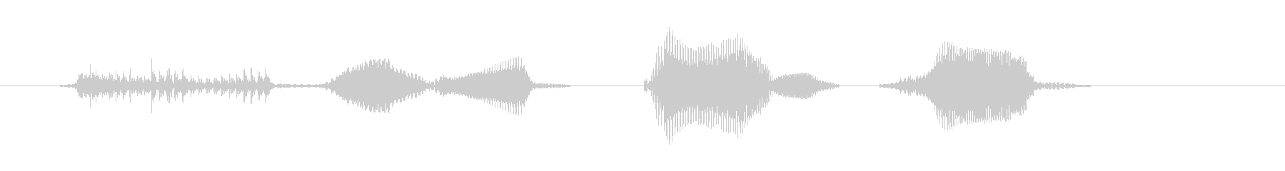 ダブルパンチ!の未再生の波形