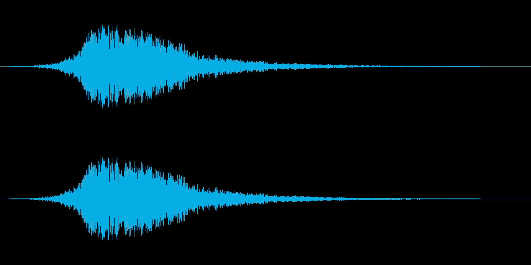 金属的な響きの音です。スワイプ、画面切…の再生済みの波形