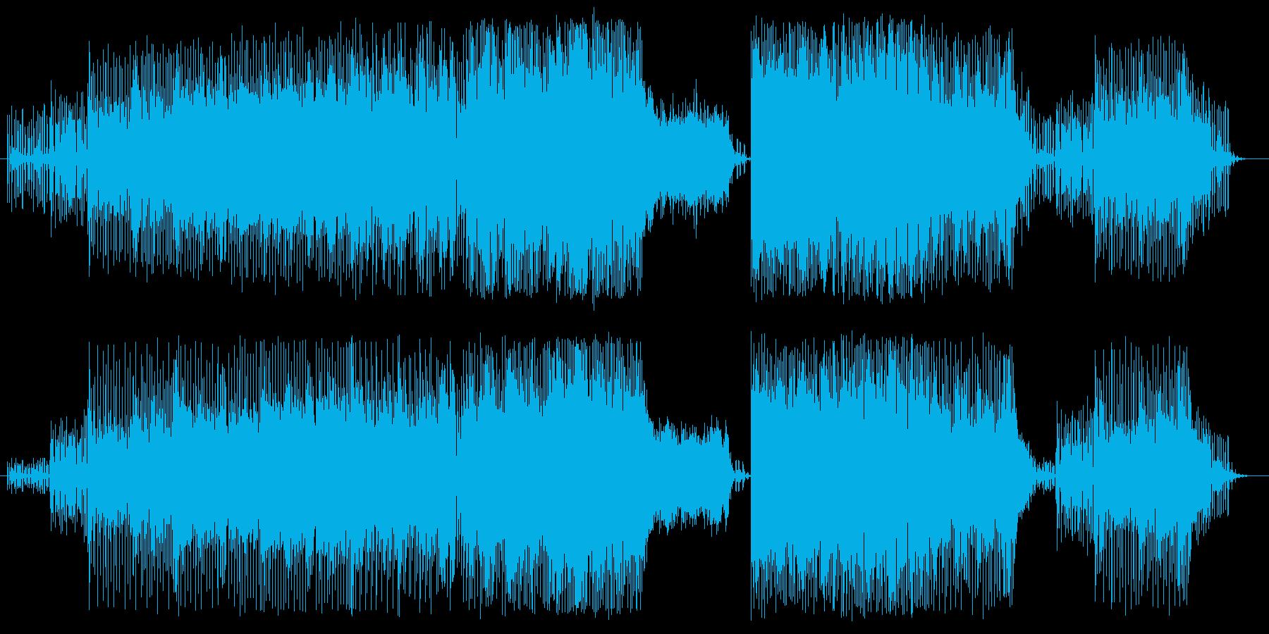 電脳空間の疾走・交錯する情報を表現の再生済みの波形