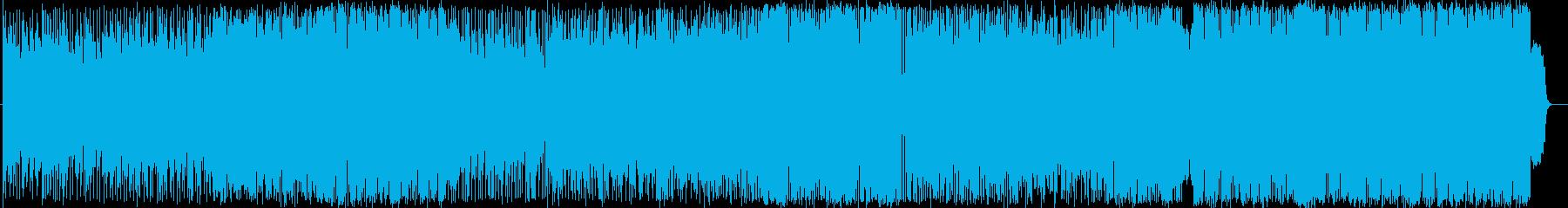 切ないロックバラード曲の再生済みの波形