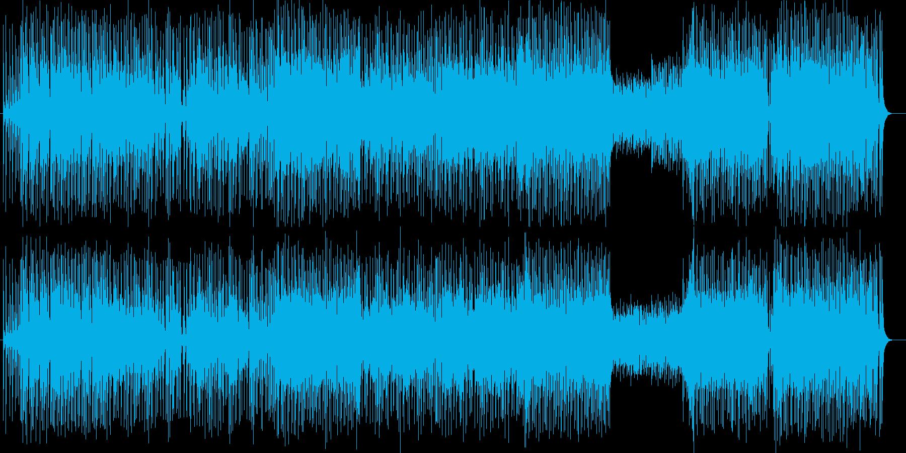 明るくポジティブになるポップロックの再生済みの波形