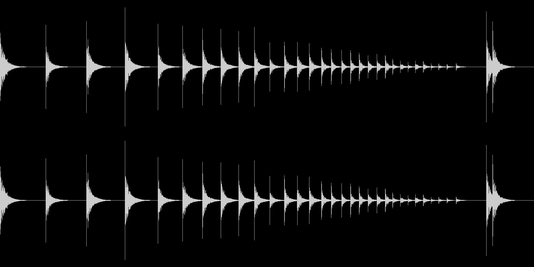 和太鼓ロール 桶胴太鼓1の未再生の波形