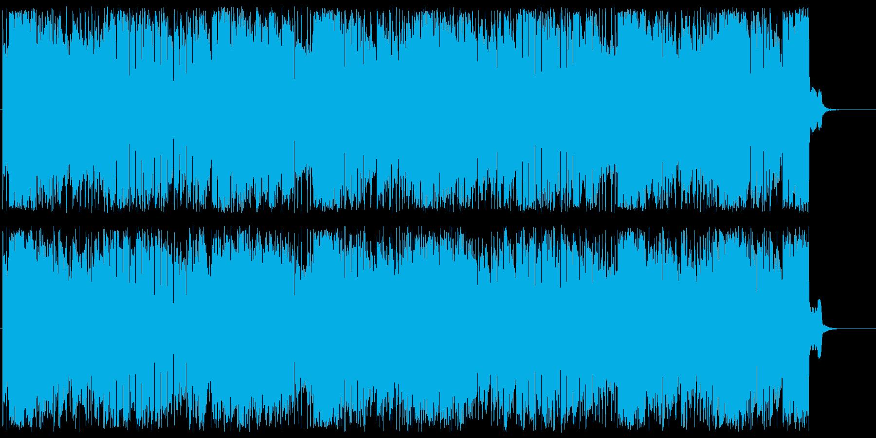 レトロな遊園地のオルガン曲の再生済みの波形