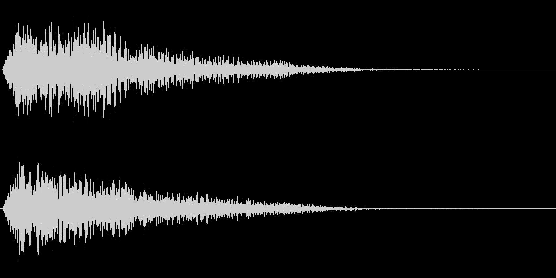 サスペンスに最適!ピアノの弦を弄ぶ音3の未再生の波形