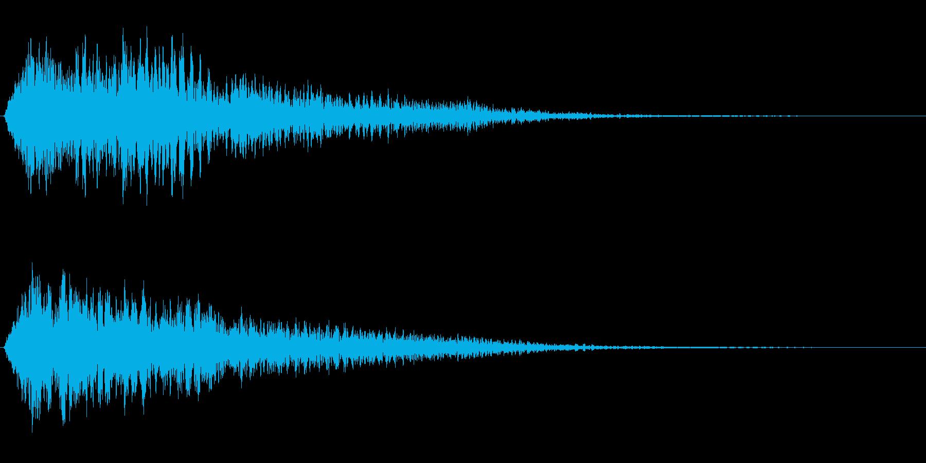 サスペンスに最適!ピアノの弦を弄ぶ音3の再生済みの波形
