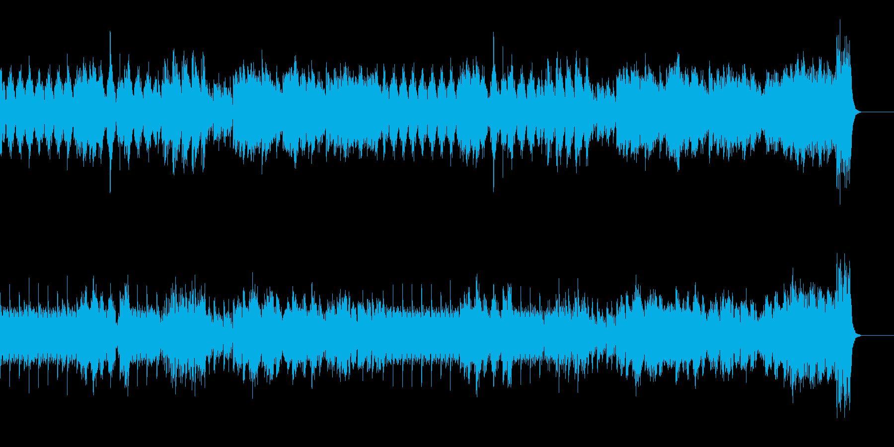 爽やかなピアノBGMの再生済みの波形