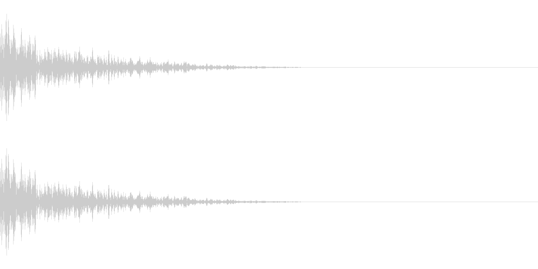カーン(氷/固いものにぶつかる/金属)の未再生の波形