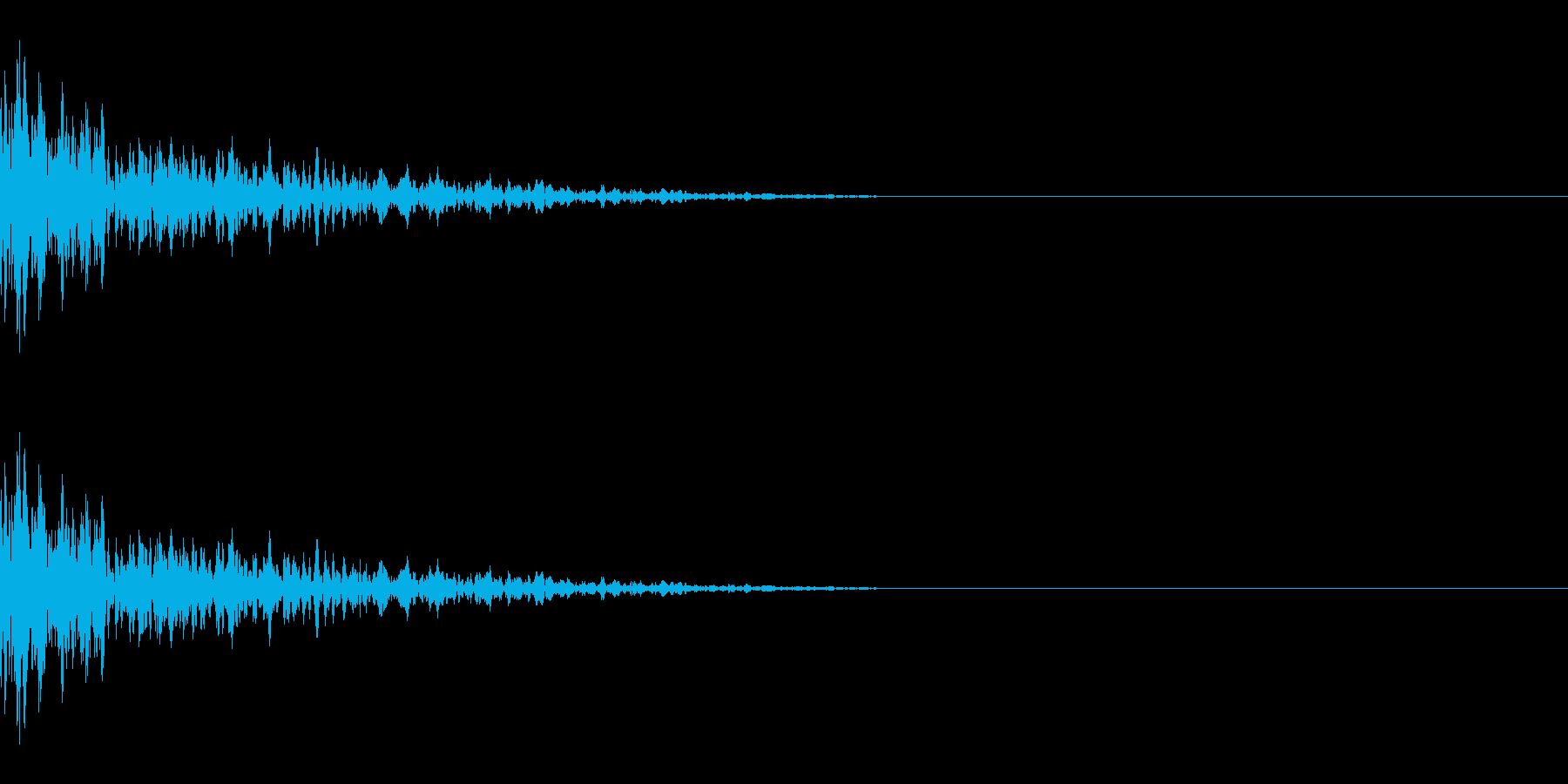 カーン(氷/固いものにぶつかる/金属)の再生済みの波形
