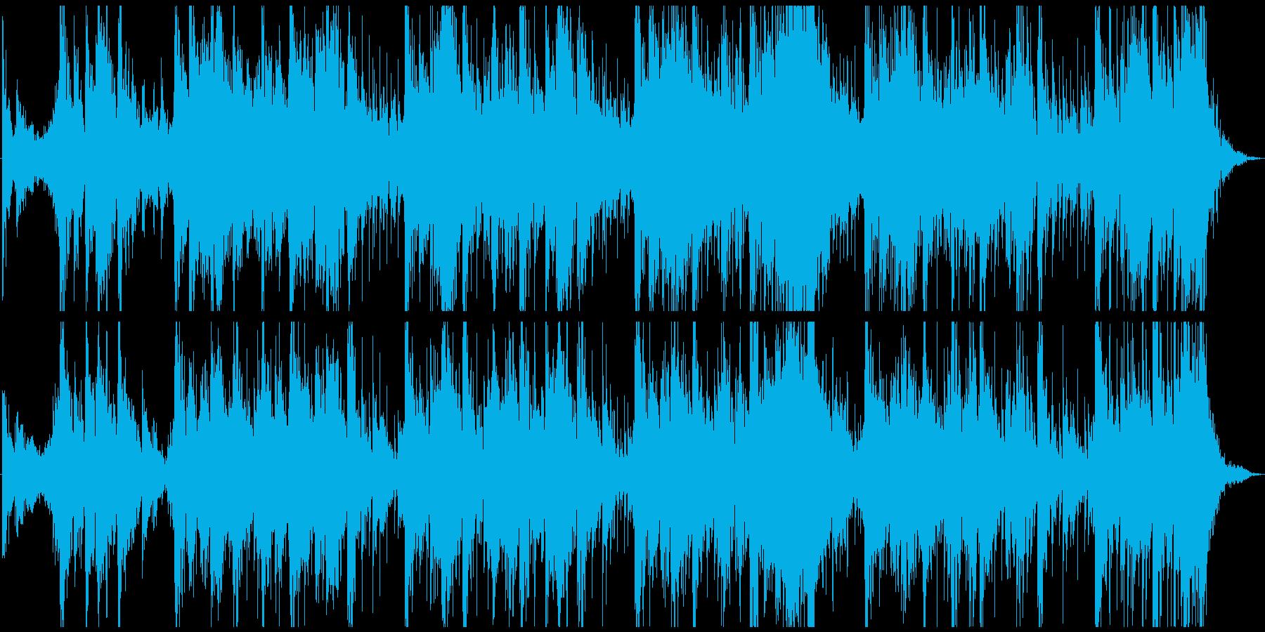 少し和風感のある、民族、儀式的な怪しい曲の再生済みの波形