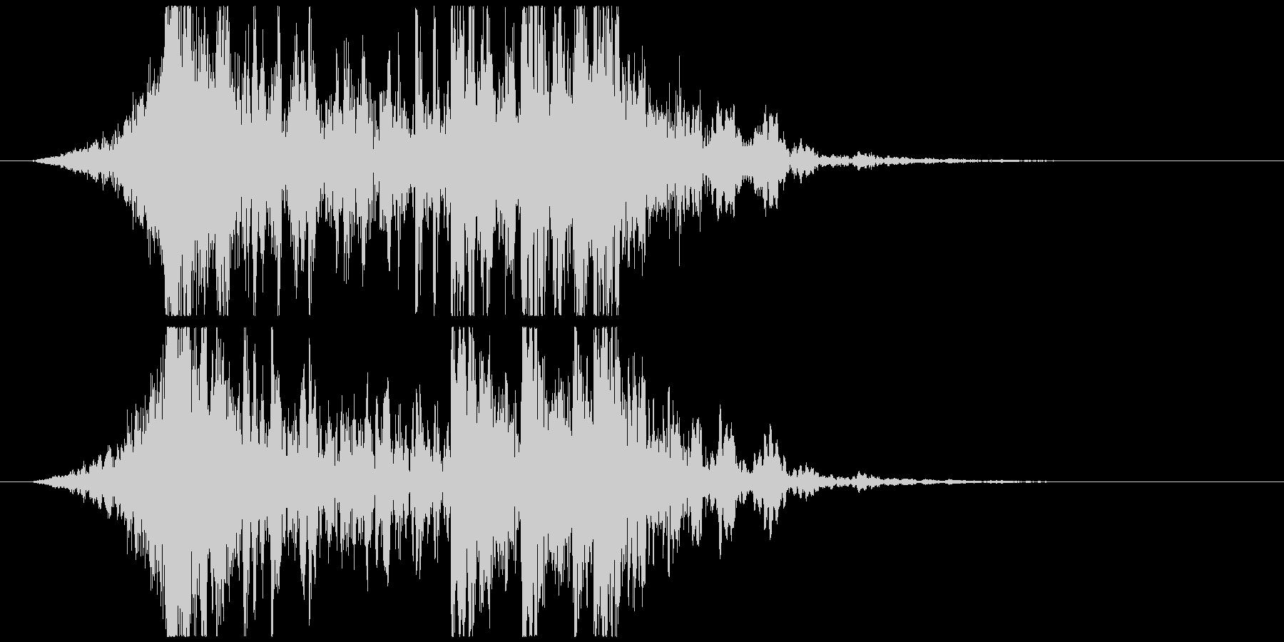 壮大で激しいリズムのサウンドロゴA(短)の未再生の波形