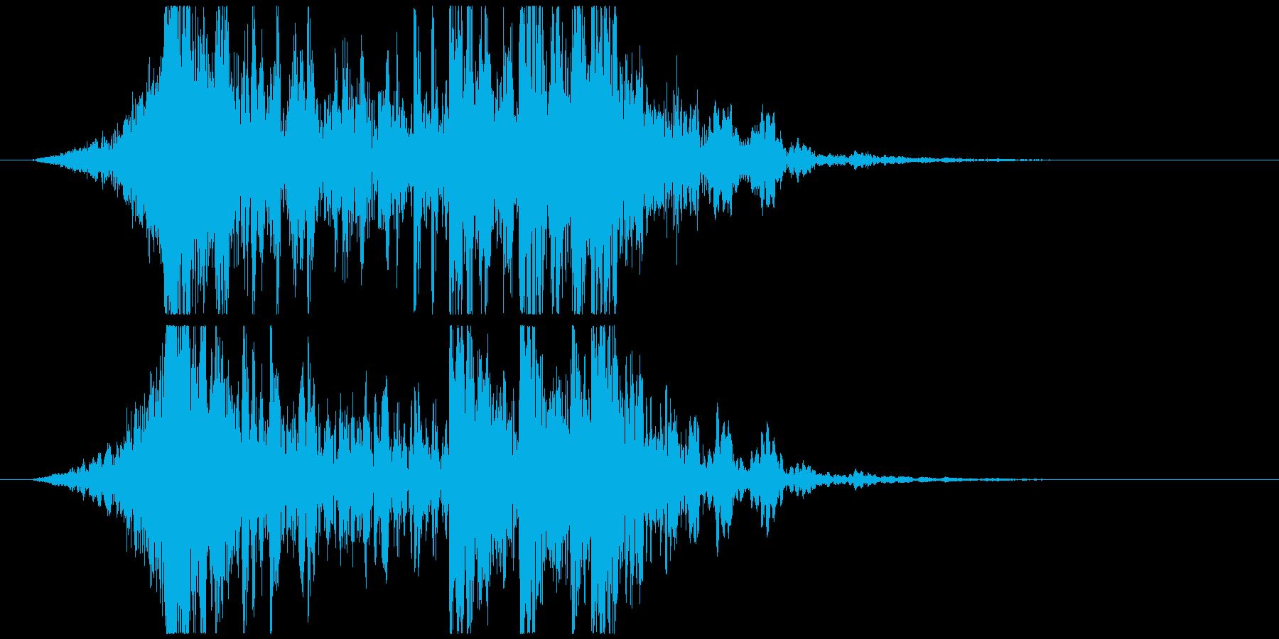 壮大で激しいリズムのサウンドロゴA(短)の再生済みの波形