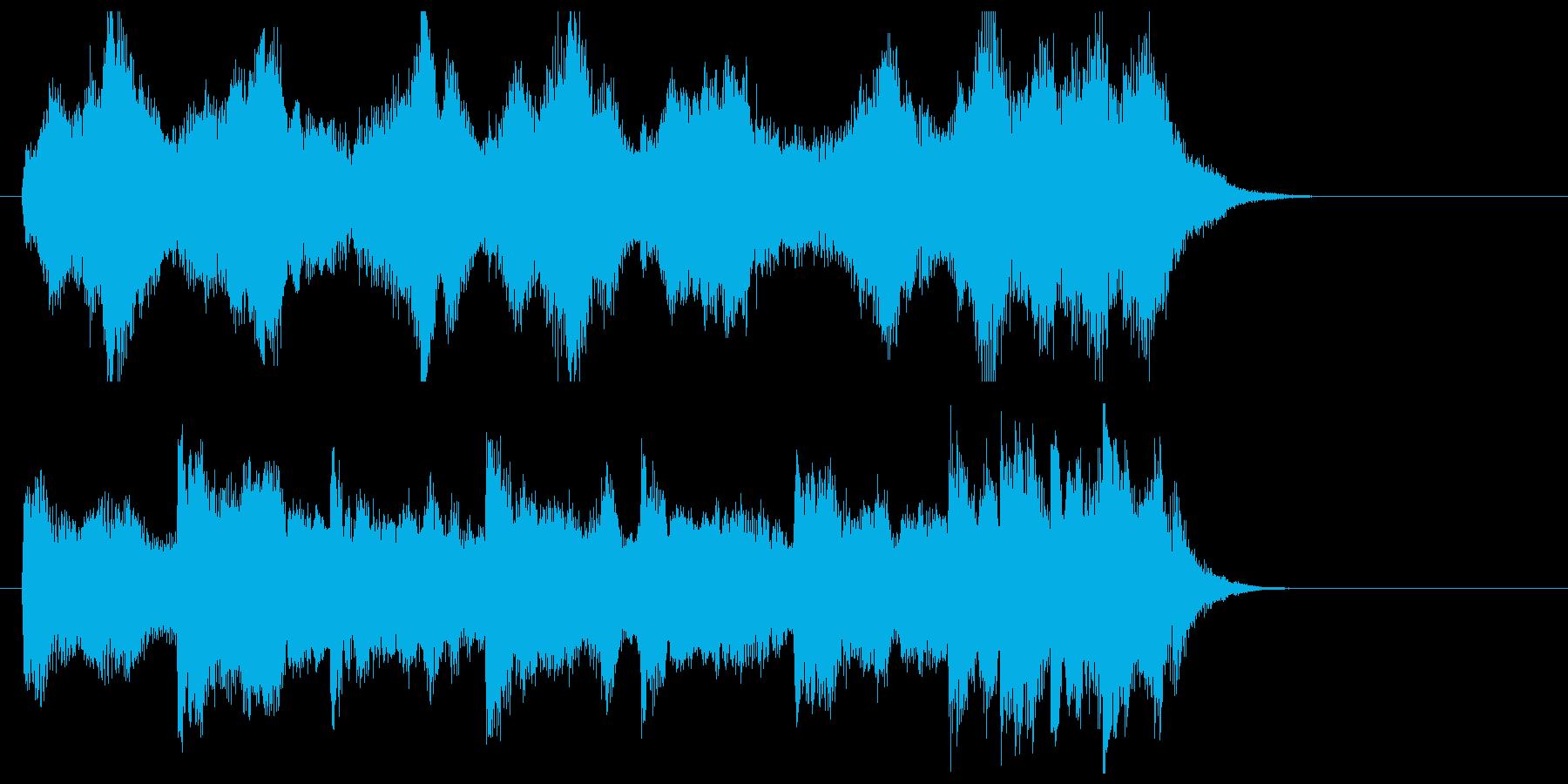 緩やかで優しいリラクゼーションジングルの再生済みの波形