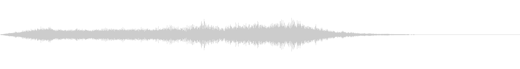 スペイシーな空間音 Cメジャーの未再生の波形